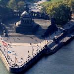 Koblenz Deutsches Eck - Koblenz Rhein Mosel Luftaufnahme